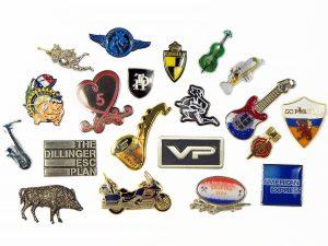 metal and enamel pins