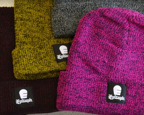 395eca48471 Beanies with logo embroidery or your own knitted design