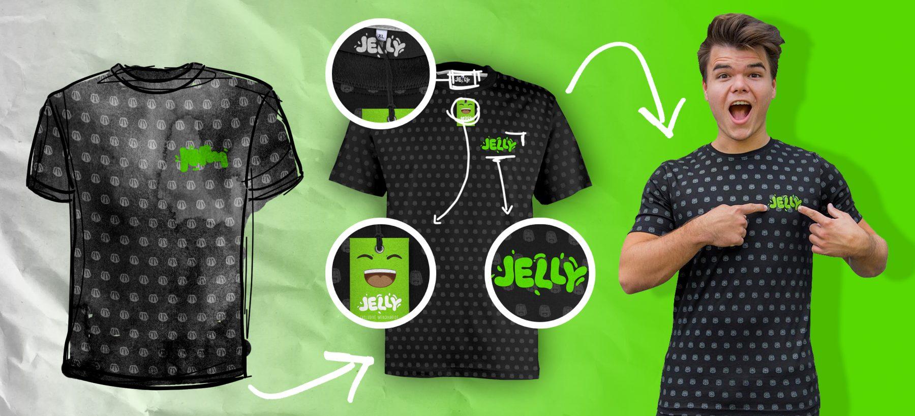 Custom Made T Shirts For Youtube Star Jelly Merchsupply Com