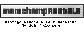 Munich Amp Rentals